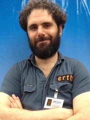 """Miles Portek, the host of """"Dinosaur Zoo Live,"""" loves"""