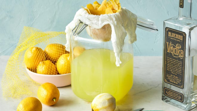 Lemons are prepared for limoncello