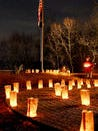 The Trail of Honor at Lasdon Park is lit up in a striking candlelight display commemorating those who gave their lives for their country. The annual ceremony will honor fallen troops Sunday at Lasdon Park.