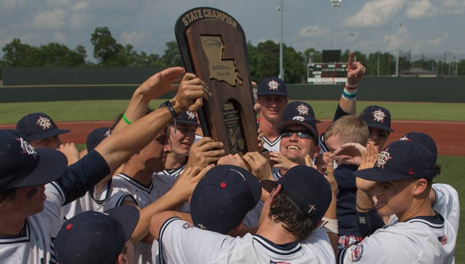 -The LHSAA class 4A state champions the Teurlings Catholic Rebels.