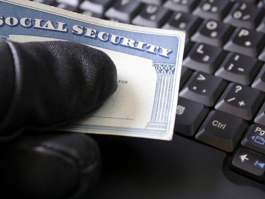 Identity Theft Crime Stock Photo
