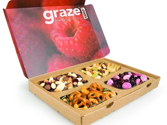 Graze, healthy snacks are often just a subscription box away. This is a great idea for college students.