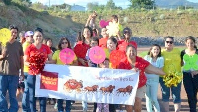 Wells Fargo had a team this past weekend in the annual Relay for Life event that was held at Fox Field in Silver City.