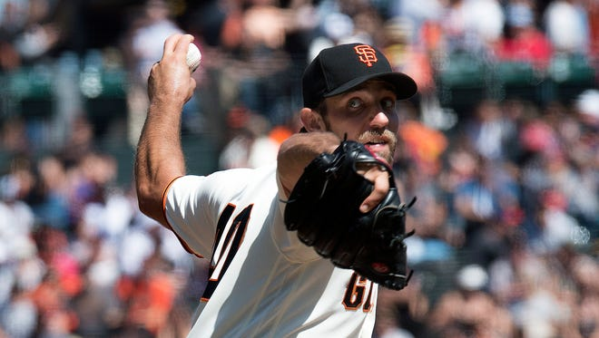 Madison Bumgarner is 14-9 with a 2.57 ERA with the Giants.