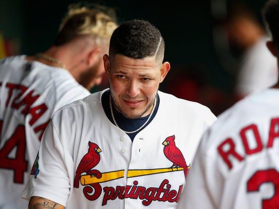 St. Louis Cardinals catcher Yadier Molina made a rehab