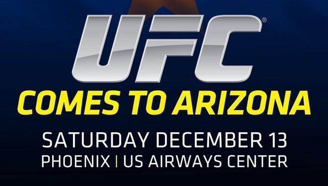 The UFC announced Saturday night that it is bringing a nationally televised card to US Airways Center on Dec. 13.