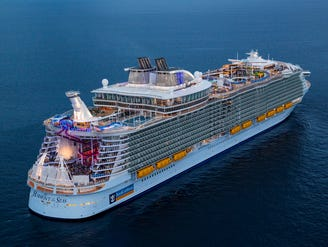 Fireworks light up sky as Symphony of the Seas kicks off maiden voyage from Miami
