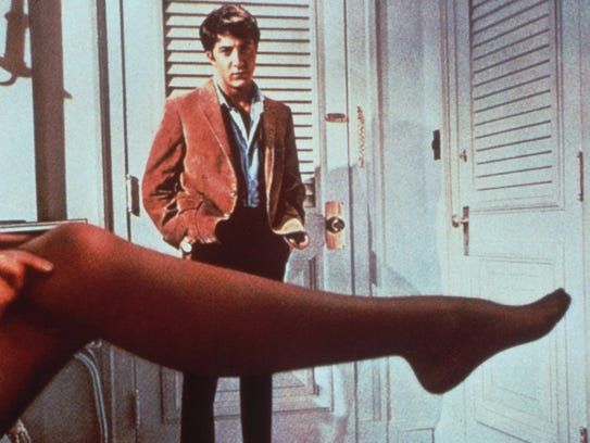 "Dustin Hoffman in ""The Graduate,"" the film that brought"