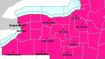 Paint us red: The National Weather Service has issued a red-flag fire warning Monday for this part of New York state.