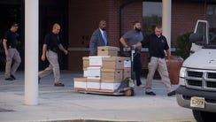 Andrew Ford/staff photo  Investigators used a pallet