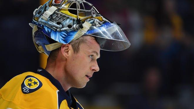 Predators goaltender Pekka Rinne has 22 wins in 48 career starts in the playoffs.