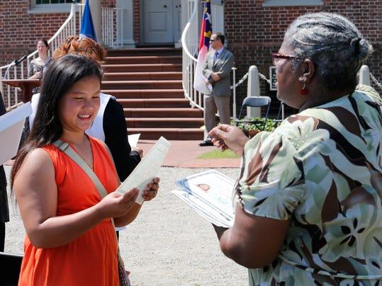 AP North Carolina Naturalization Ceremony