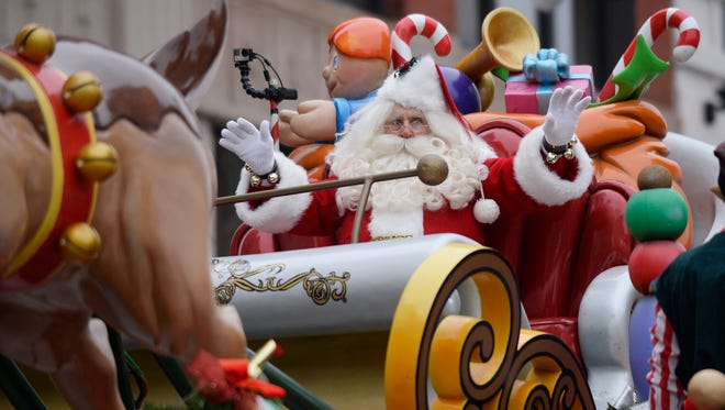 As always, the arrival of Santa Claus and his sleigh is the most anticipated moment of America's Thanksgiving Parade.