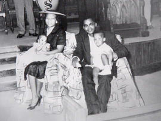 Rev. W.O. Wells and his wife Annie Ruth and their children