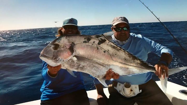 John Pfaff caught this 30-plus pound African Pompano