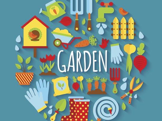 Illustration of Gardening icons set
