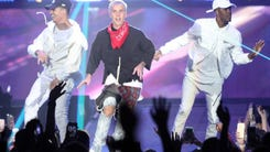 Justin Bieber performs a sold-out concert at Prudential