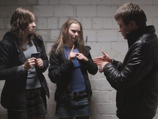 """Anya (Yana Novikova), center, in """"The Tribe."""""""