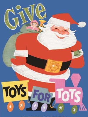 Toys for Tots original promotional poster, created by Walt Disney in 1948.