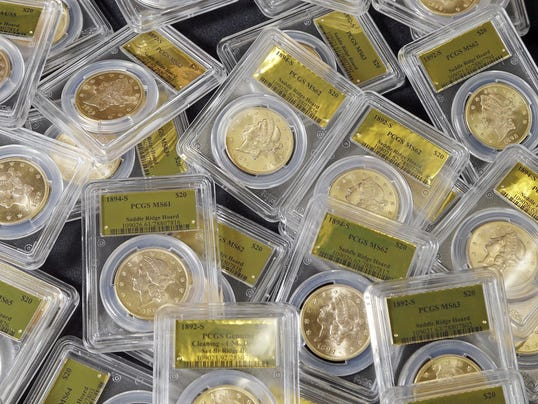 Gold coins found on California property