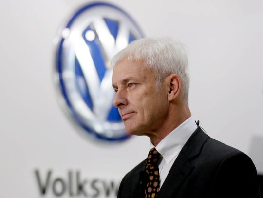Volkswagen AG chief executive officer Matthias Muller