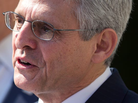 Federal appeals court judge Merrick Garland speaks as he is introduced as President Barack Obama's nominee for the Supreme Court during an announcement in the Rose Garden of the White House, on Wednesday, March 16, 2016, in Washington. Garland, 63, is the chief judge for the United States Court of Appeals for the District of Columbia Circuit, a court whose influence over federal policy and national security matters has made it a proving ground for potential Supreme Court justices. (AP Photo/Evan Vucci)