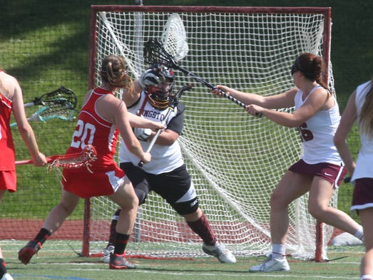 North Rockland's Kaitlyn Gutenberger scores on Kingston