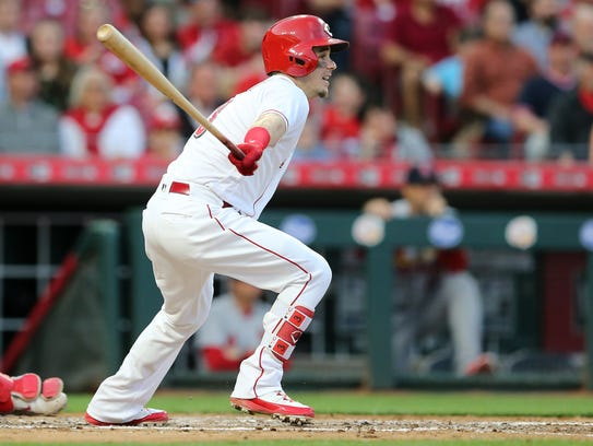 Cincinnati Reds second baseman Scooter Gennett (3)