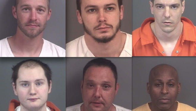 6-17-A Top row, from left: Joshua Tuttle, Christian Slotnick and James Holbrook. Bottom row: Coty O'Donohue, Jeffrey Sexton and Kevin Bables.