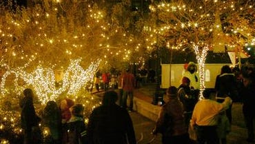 Holiday Magic Downtown will feature festive lighting, as shown in this file photo, when it launches the Christmas season at 5 p.m. Thursday, Dec. 4, in Alexander Fulton Park, the downtown mini-park.
