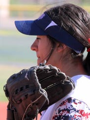 Lady Cat Chole Johnson waits for the next pitch from