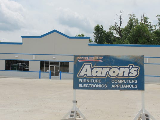 Construction progressing at aaron39s store for Furniture depot mountain home arkansas