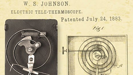 Warren Seymour Johnson's electric tele-thermoscope was a precursor to the electric thermostats we use today.