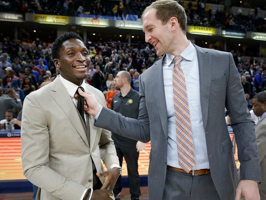 Former Indiana Hoosier teammates Victor Oladipo and