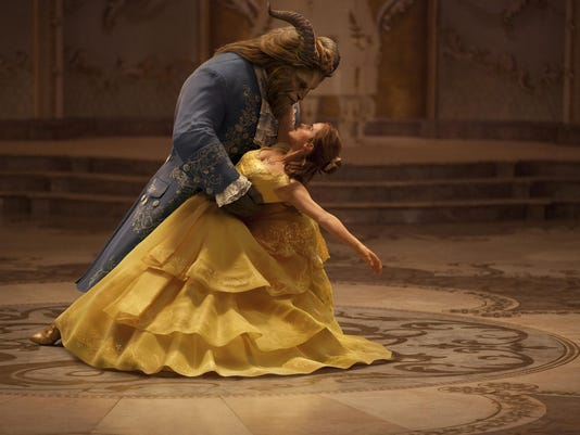 """Emma Watson stars as Belle and Dan Stevens as the Beast in Disney's """"Beauty and the Beast."""""""