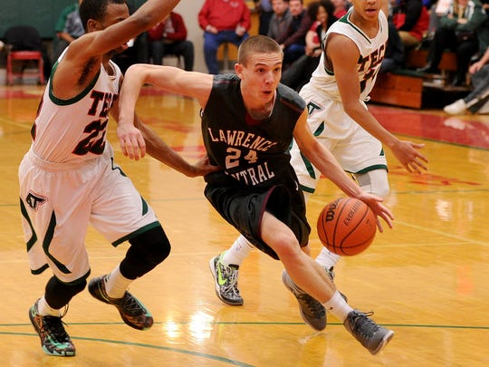 Lawrence Central guard Kyle Guy (24).