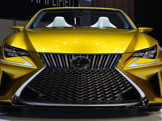 The Lexus LF-C2 Concept car is unveiled at the Los