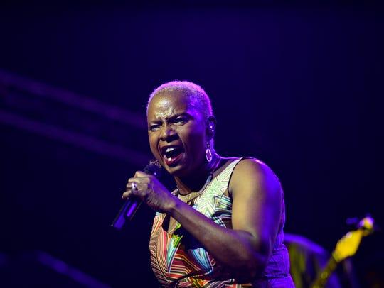 Anjelique Kidjo performs at the Bonnaroo Music and