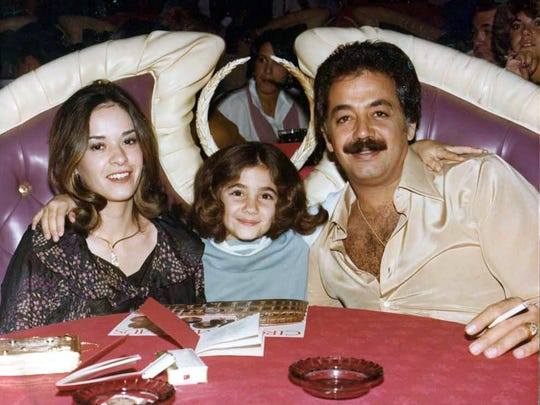 Catherine Chagra as a young girl, with her stepmother Liz Chagra and father Jimmy Chagra.