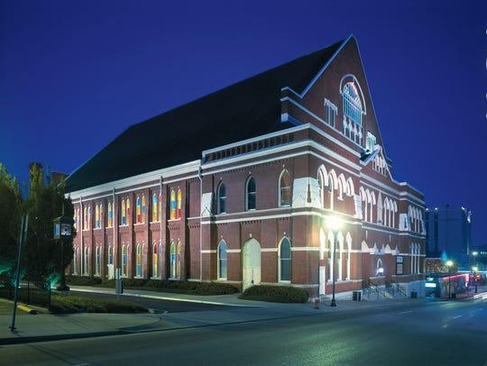 A National Historic Landmark, Nashville's Ryman Auditorium,