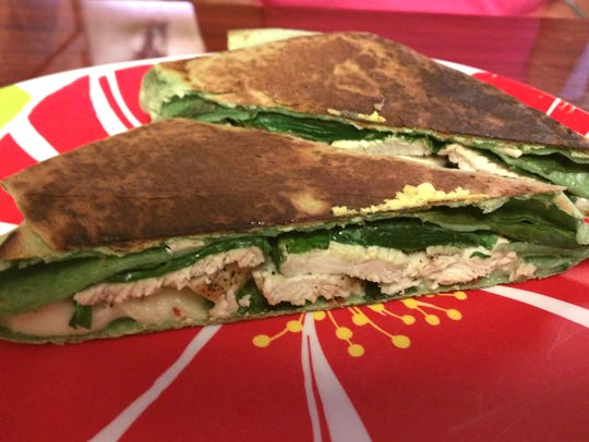 Barefoot Cafe's Tuscany chicken wrap was a spinach