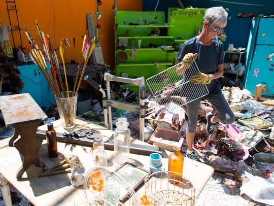Sandy Lichtenberger owner of Sand & C Emporium Antiques