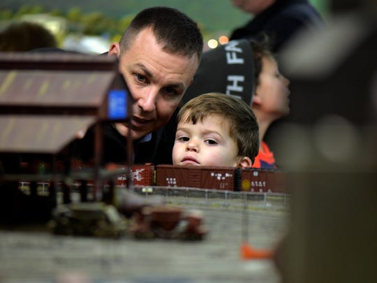 Matt Simmons of York Township and his son Will, 2,