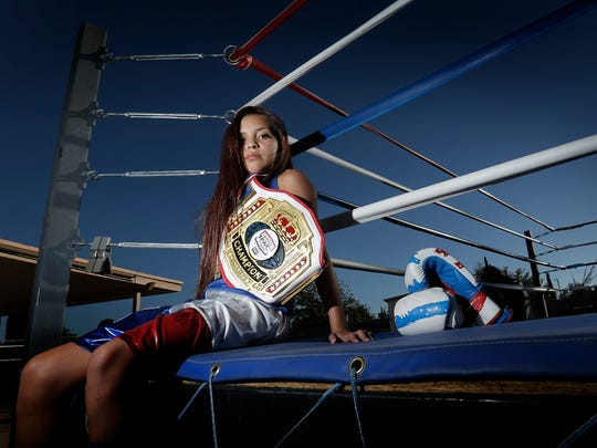 Thirteen-year-old Kayla Gomez already has several youth titles under her belt but is hungy for more. Gomez trains at Chuco Boxing in east El Paso.