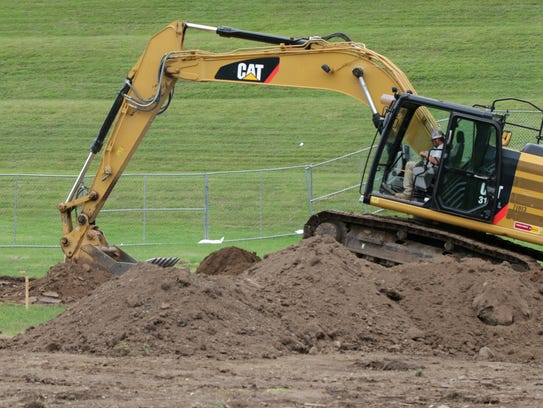 Work has begun at the new skate park being built at