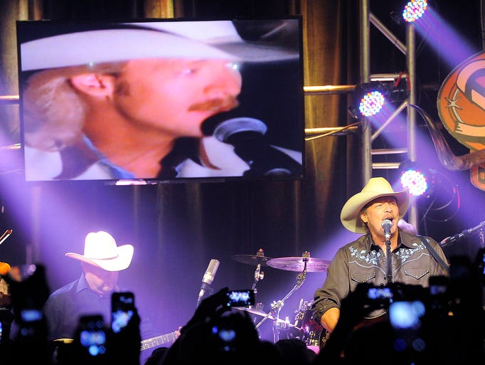 Alan Jackson made a surprise appearance at The Stage on Broadway  Wednesday June 4, 2014, in Nashville, TN.