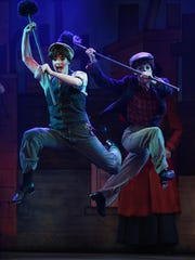 Callie Atkinson, left, performs in Broadway Palm's