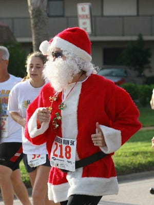 Santa Claus has been a regular at the annual Reindeer Run/Walk 5K in Cape Canaveral.