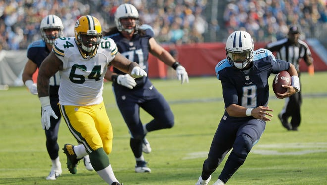 Quarterback Marcus Mariota and the Tennessee Titans travel to Indianapolis to take on the Colts at noon Sunday.