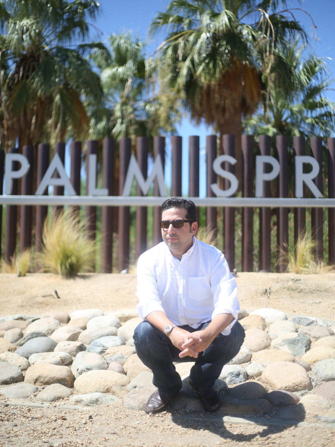 """Tod Goldberg, author of """"Gangsterland,"""" in Palm Springs, California."""